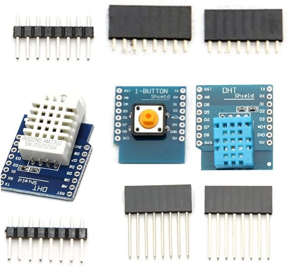 Exiron DHT11 DHT22 AM2302 D1 Mini WeMos Temperature Humidity Sensor Button Shield