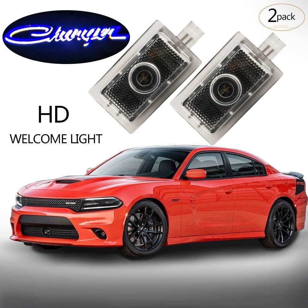 Moderncar 2ps Car door led Logo Light LED Ghost Shadow laser Welcome Lights. No drilling, no rewiring. (for Dodge Charger)