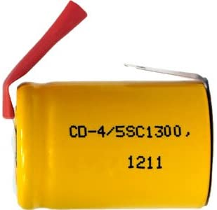 250 Pcs 4/5 Sub-C 1300 Mah Nicd Rechargeable Battery With Tabs