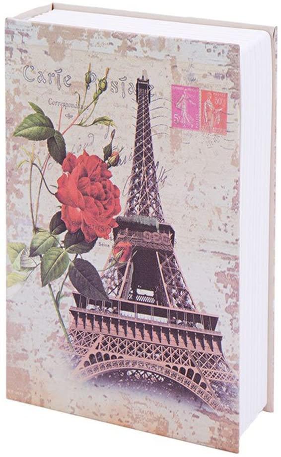 Diversion Book Safe Eiffel Tower Money-Box, Metal Saving Bank Super Size 9.5 inch