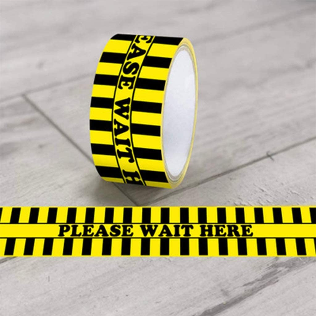 FJJ Safety Barrier Tape, 36-Code 18.9-Feet, Yellow/Black Hazardous Areas Yellow Caution Tape.(1 Roll) (Color : C)