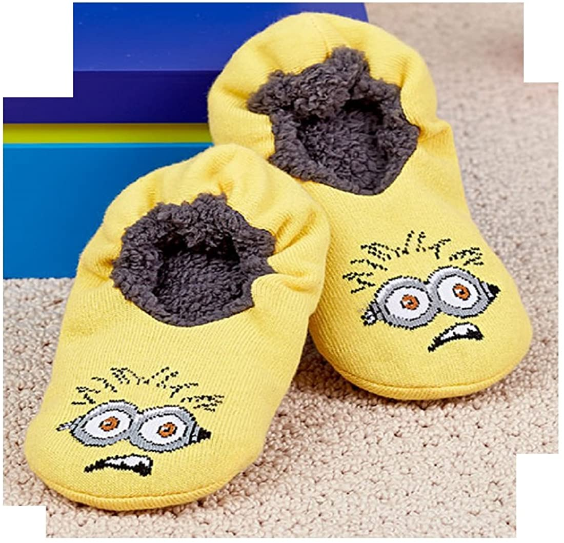 Minions Despicable Me Licensed Kids Slipper Socks Fits Shoe Sizes 7.5 to 3.5