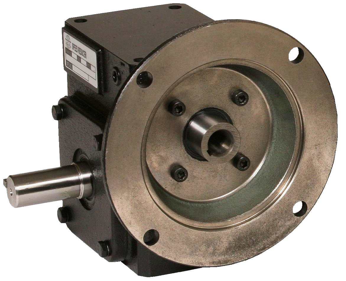 Worldwide Electric HdRF237-50/1-L-56C Worm Gear Reducers, Left Hand Output, 50:1 Ratio, 35 Output RPM, 56C Frame, 2.37