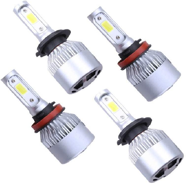 4Pcs H11 H7 LED Headlight Bulb Kit Super Bright High Low Beam 6000K Xenon White