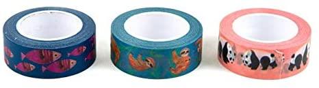 Paper Destiny for Papyrus Crazy Kingdom Washi 3 Rolls of Tape