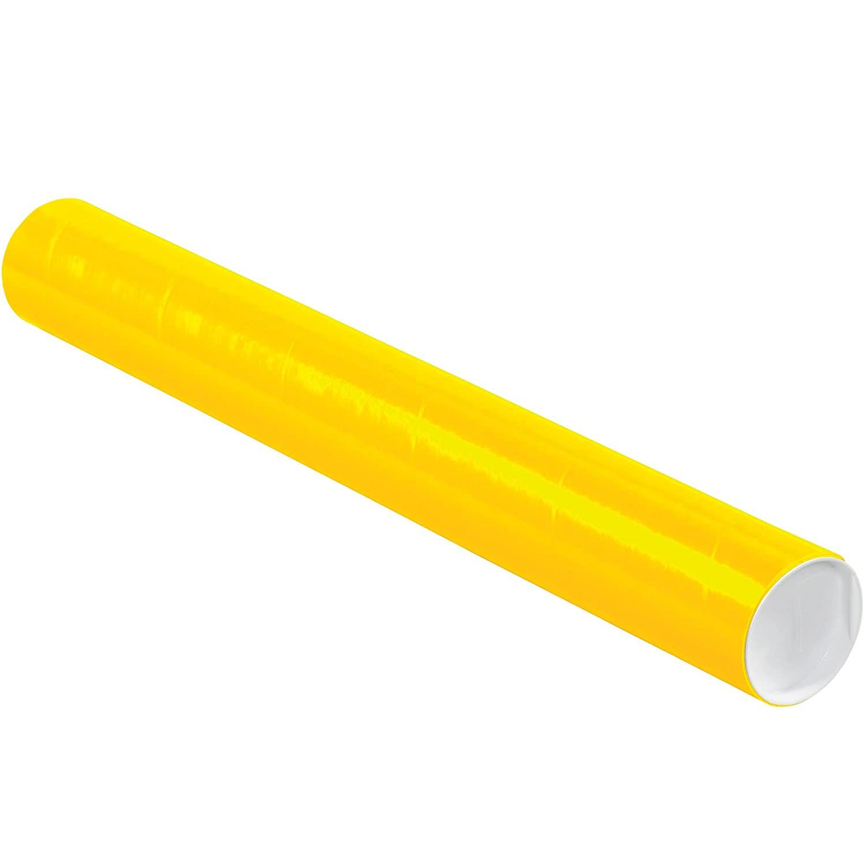 Aviditi P3024Y Mailing Tubes with Caps, 3