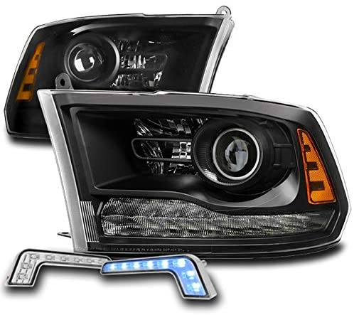 ZMAUTOPARTS Projector Black Headlights Headlamps with 6.25