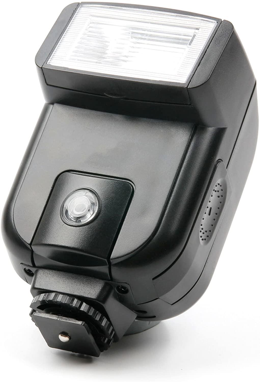 DURAGADGET Professional Hot Shoe Mount Tilting SLR Camera Flash - Suitable for Panasonic DMC-G81 LUMIX G| DMC-LX100EG-K| Lumix DC-FZ82| Lumix DC-G9| Lumix DC-GH5