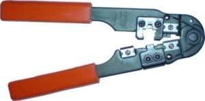 Cables UK 10 x Cat 5E,RJ45 8P8C Crimp Tools,Crimps Strips + cuts
