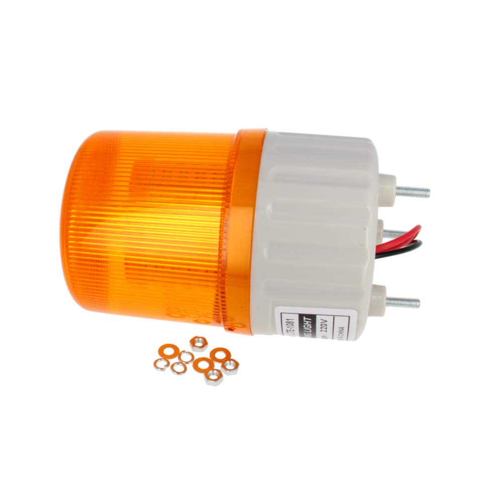 Othmro 220V 2W Yellow Buzzer Sound Rotating Signal Lamp Bright Industrial Light TB-1081