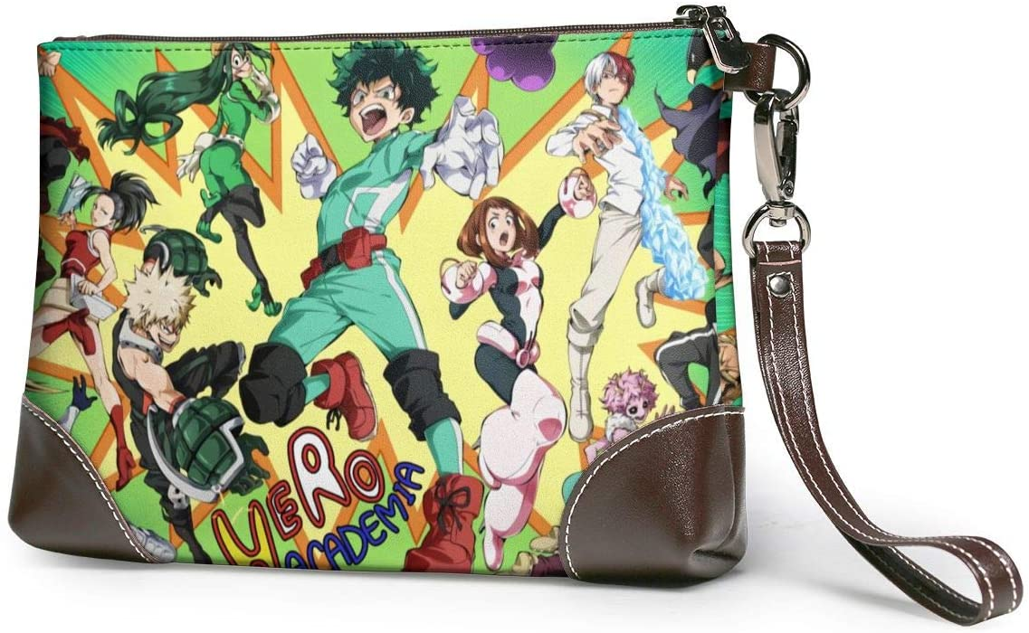 My Hero Academia Soft Lambskin Leather Wristlet Clutch Bag for Women Designer Large Wallets