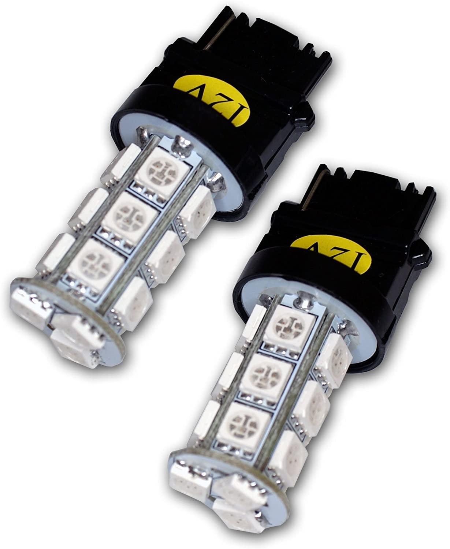 TuningPros LEDCG-3156-WA18 Cornering LED Light Bulbs 3156, 18 SMD LED Amber 2-pc Set