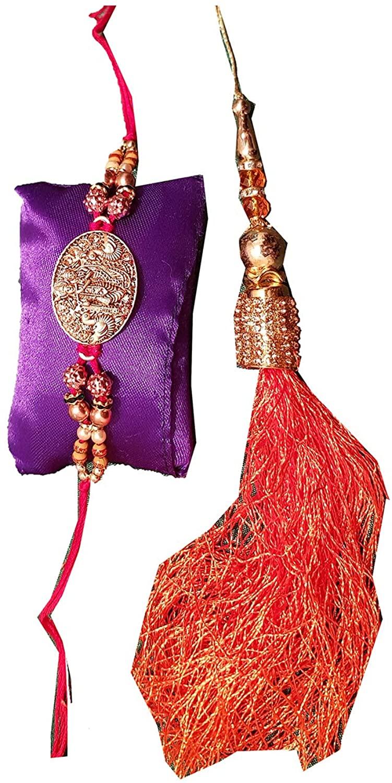 Da Facioun Indian Raksha Bandhan Festival Designer Handmade Colorful Threads Bhaiya Bhabhi Rakhi 20RCL-11.