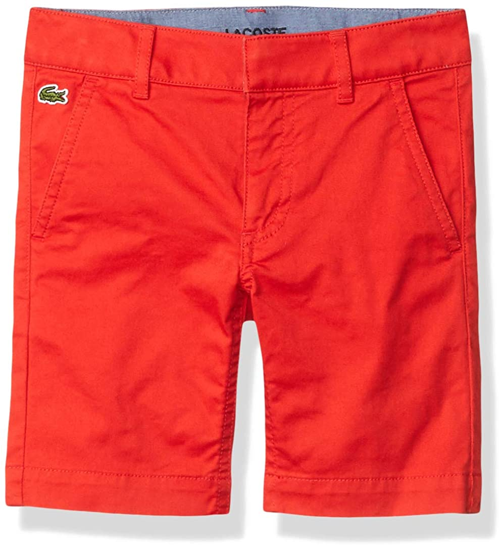 Lacoste Boys' Solid Twill Bermuda Shorts