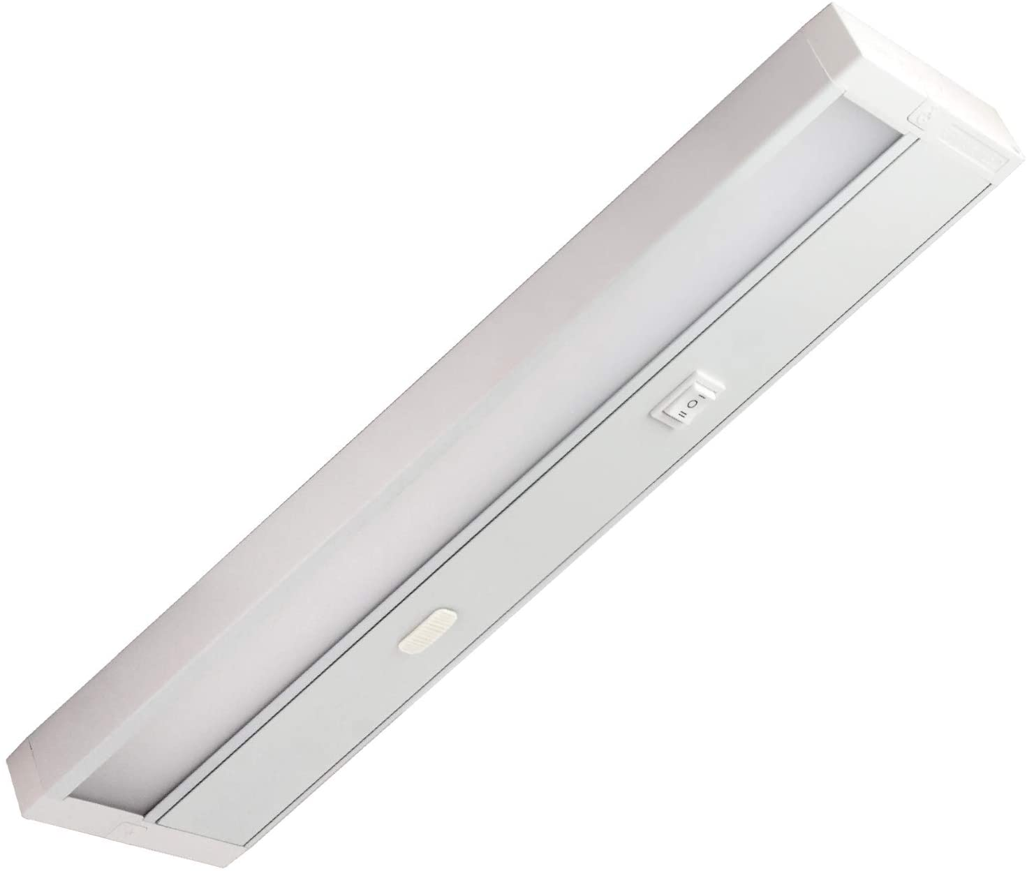11 LED Under Cabinet Light Fixture; Edge Lit; TRI Color 3000K, 4000K, 5000K All in One Fixture! Dimmable; 6W; 350 Lumens; 120V; CRI>90; UL and Energy Star Certified; White Finish
