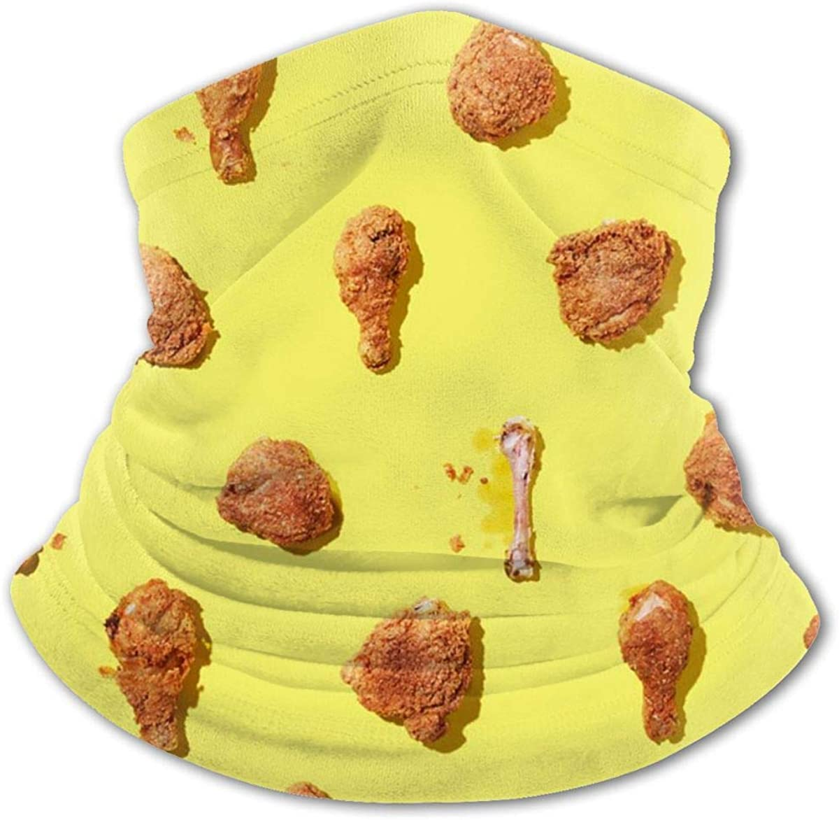 Fried Chicken Leg Headwear For Girls And Boys, Head Wrap, Neck Gaiter, Headband, Tenn Fishing Mask, Magic Scarf, Tube Mask, Face Bandana Mask For Camping Running Cycling