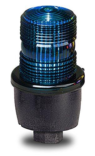 Federal Signal LP3P-012-048B Streamline Low Profile Strobe Light, Pipe Mount, 12-48 VDC, Blue