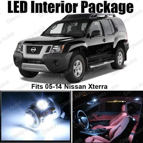 Classy Autos Nissan Xterra White Interior LED Package (8 Pieces)