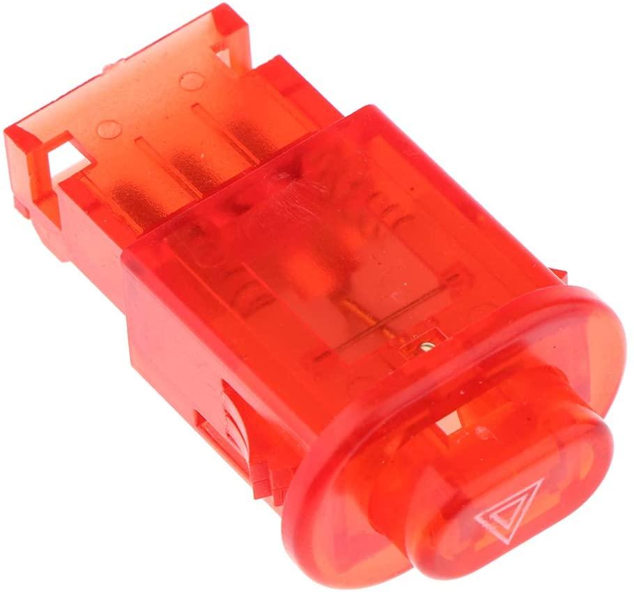 prasku Motorbike Turn Signals Dual Flash Warning Light Switch Control Kit - Red