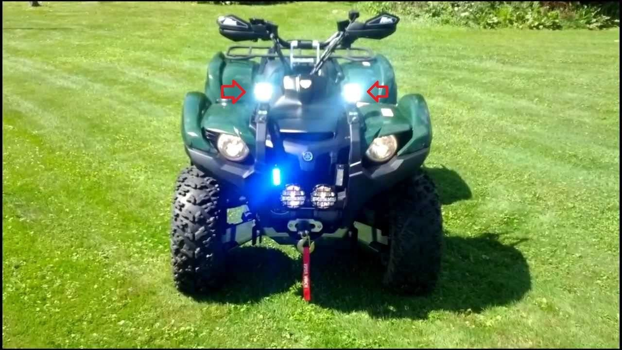 BlingLights Compatible Yamaha Grizzly 6000K LED Auxiliary Lights Flood Lamps Kit (all years)