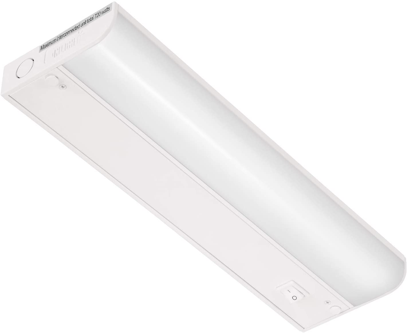 GetInLight Dimmable Hardwired Only Under Cabinet LED Lighting with ETL Listed, Soft White(3000k), Matte White Finished, 12 Inch, IN-0201-11-WH