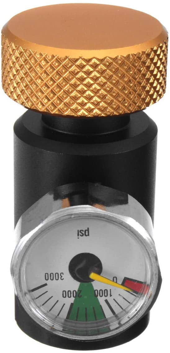 OKIl Paintball CO2 Adapter Compress Air Regulators Fill Station Remote On/Off With 3000PSI Gauge