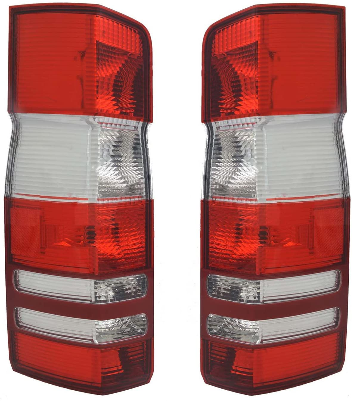 Rareelectrical NEW TAIL LIGHT PAIR COMPATIBLE WITH MERCEDES BENZ SPRINTER 2500 2010-14 MB2801136 MB2800136 906 820 27 64 9068202764 906-820-27-64
