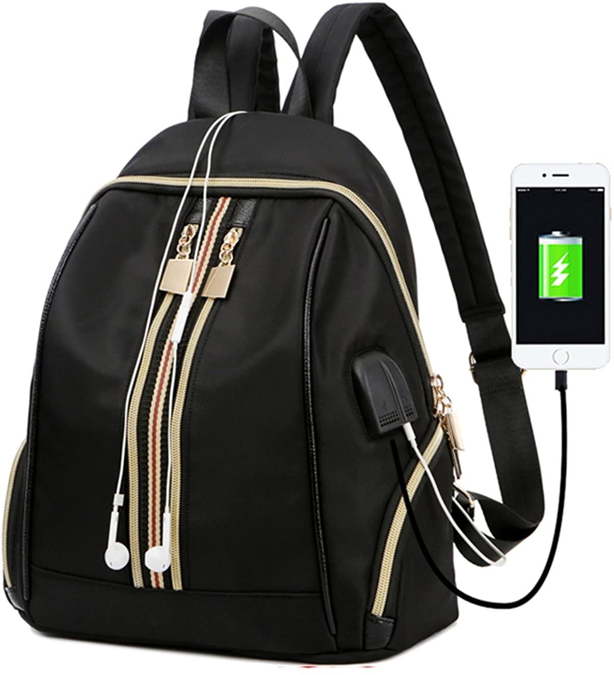 Fshion Women Mini Backpack Usb Charging School Bags For Women Girls Students Satchel