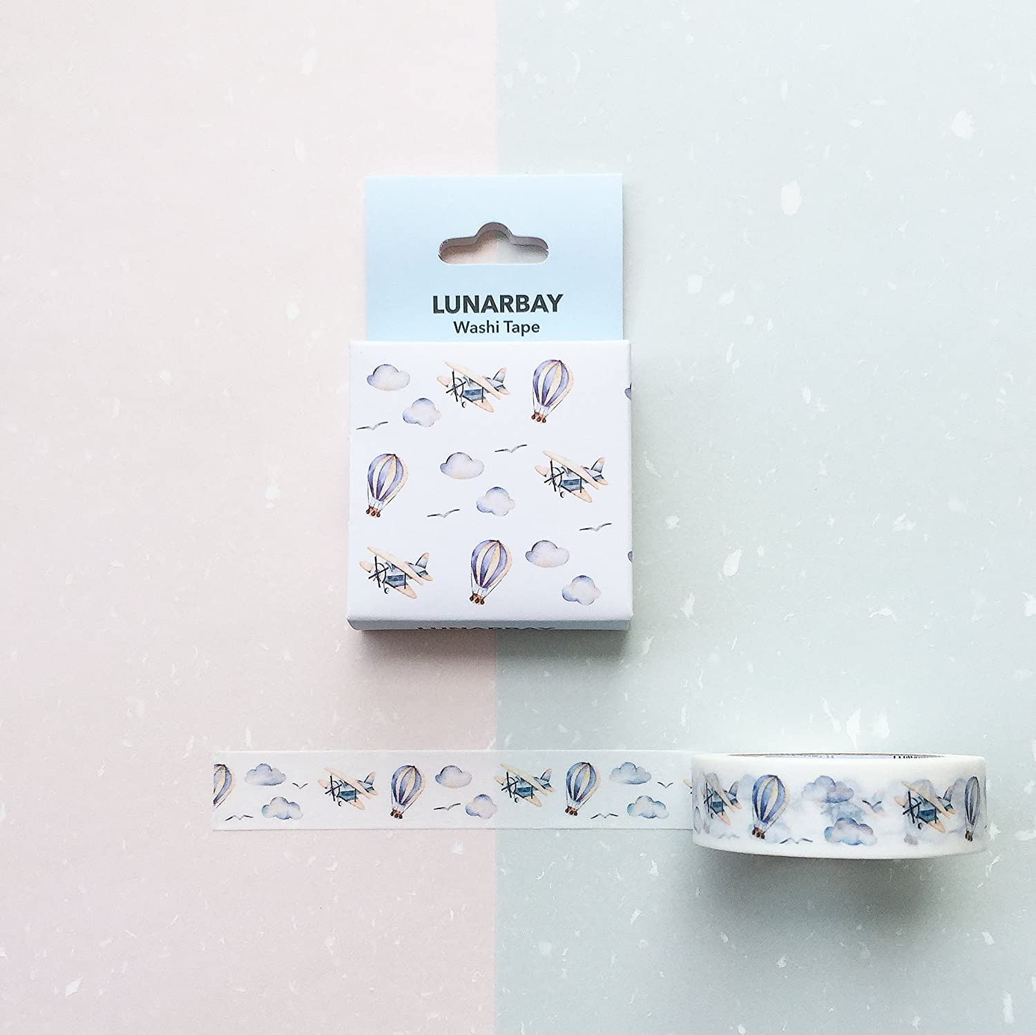 Limited Edition Washi Tape - Plane and Air Balloon / Japanese Washi Tape / Best Seller / Lunarbaystore.com
