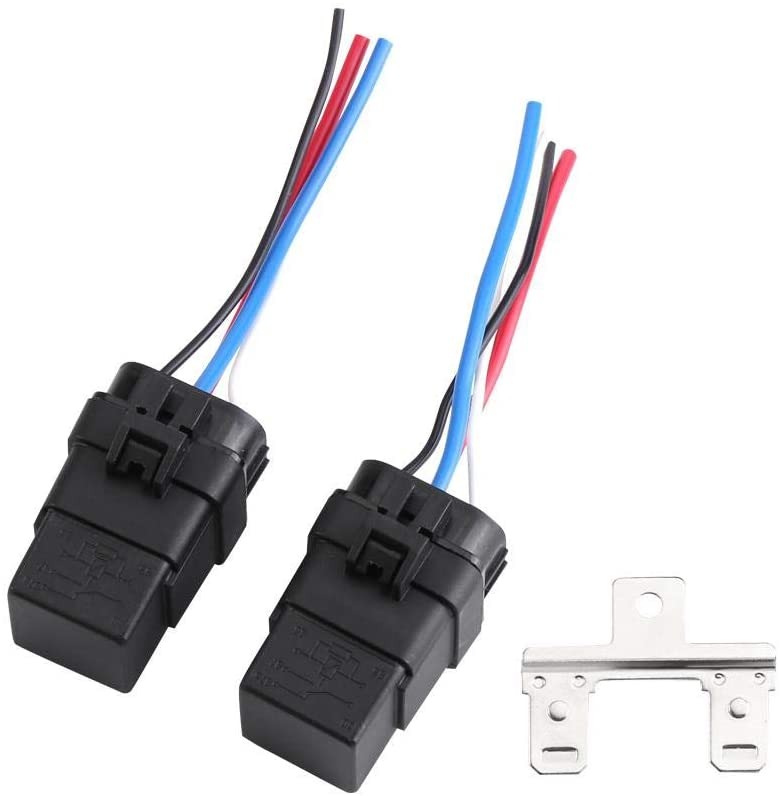 Tangxi 1 Set 12v DC 40A 4Pin Automobile Relay, Wire Waterproof Relay Integrated Car Auto Socket