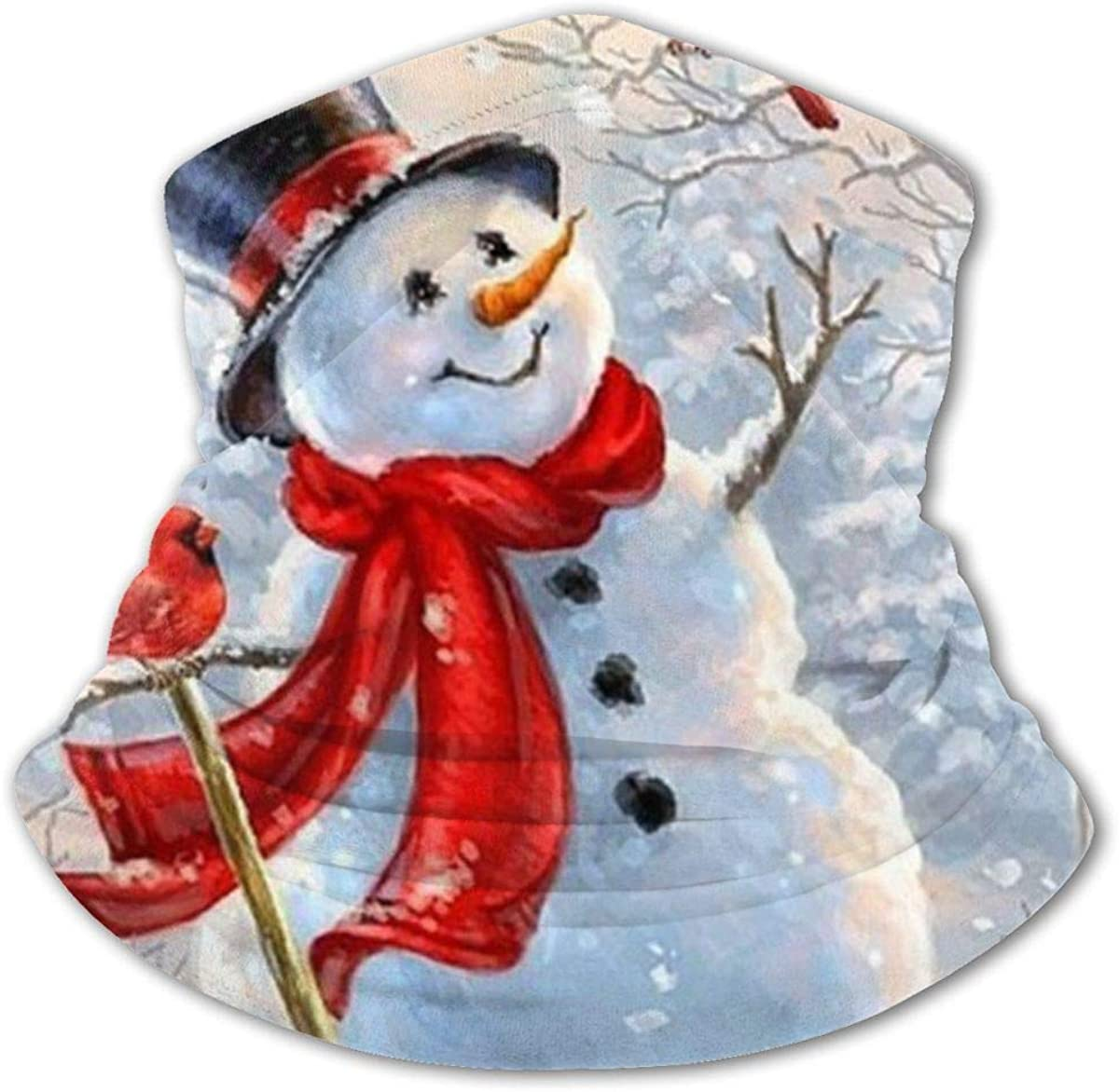 Snowman Bird Headwear For Girls And Boys, Head Wrap, Neck Gaiter, Headband, Tenn Fishing Mask, Magic Scarf, Tube Mask, Face Bandana Mask For Camping Running Cycling