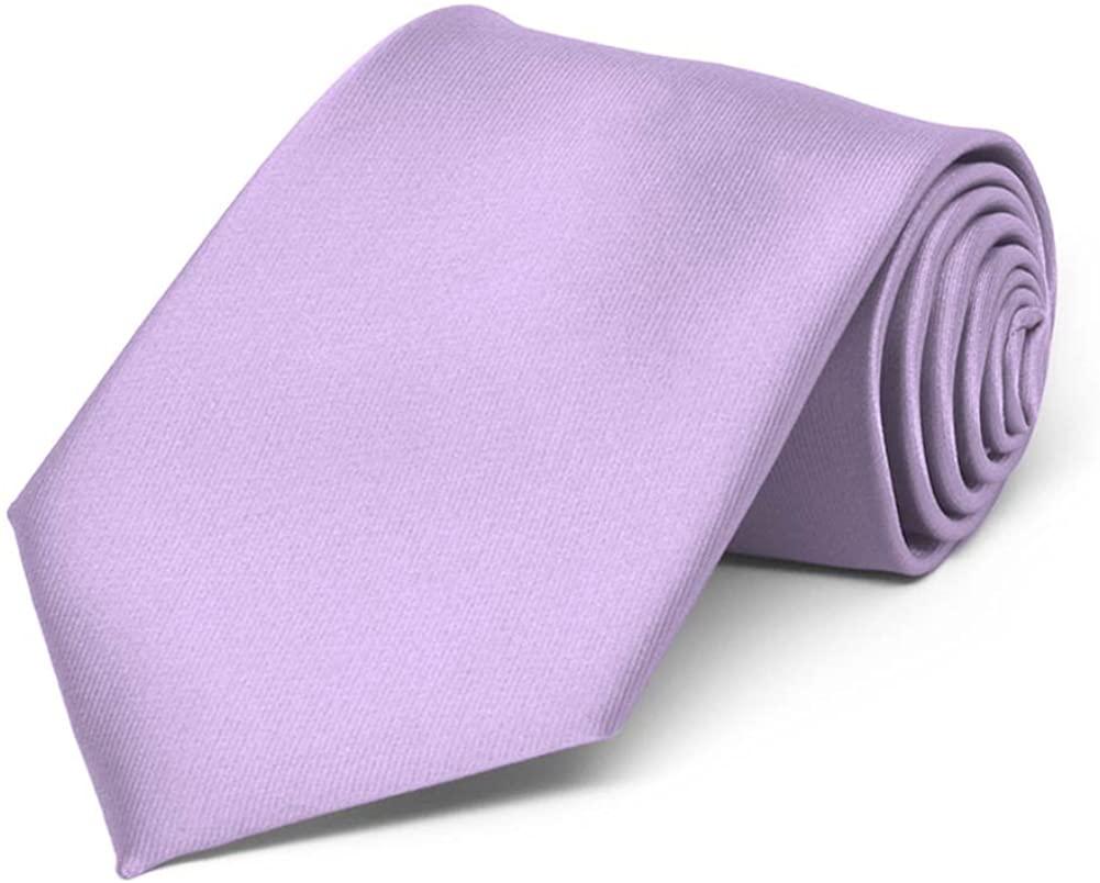 TieMart Boys' Lavender Solid Color Necktie