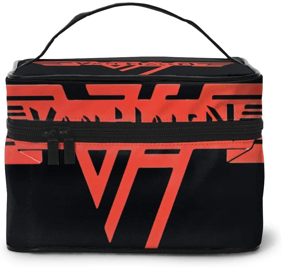 Wehoiweh Van Halen Band 9x6.5x6.2 Inches (Length X Width X Height) Large-Capacity Makeup Cosmetics Storage Bag Protection Bag Can Help You Maintain Beautiful Appearance Anytime, Anywhere