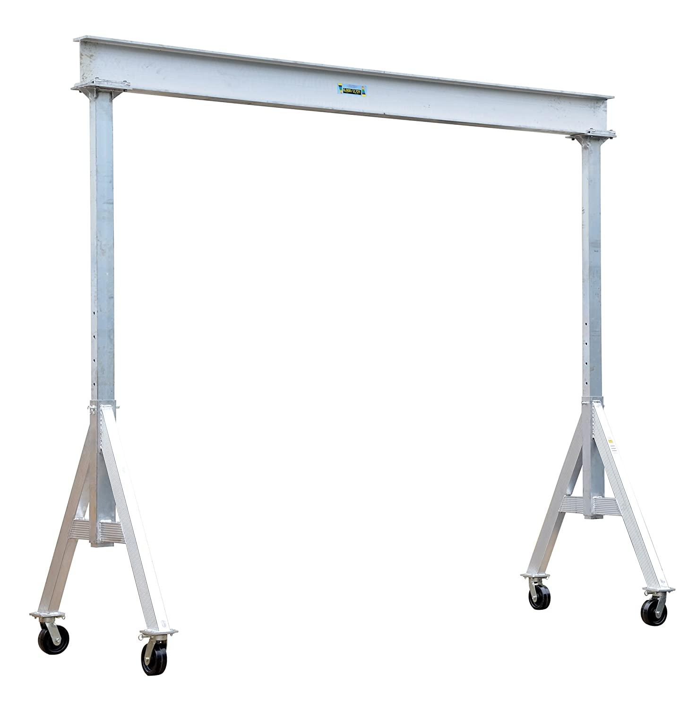 Vestil AHA-6-10-12 Aluminum Adjustable Gantry Crane, 6000 lb. Capacity, 10' Overall Beam, 96