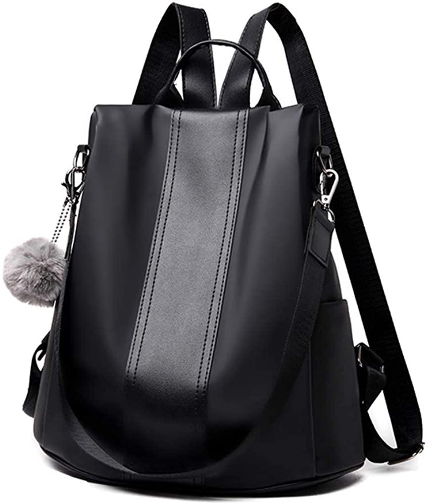 Aiseyi Backpack Purse for Women Fashion School Purse and Handbags Nylon Anti-theft Rucksack