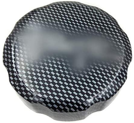 XKMT-Carbon Fiber Brake Fluid Reservoir Cap CoverRR Engraved Compatible With Honda CBR 600RR 900RR 929RR 954RR 1000RR [B00YWC0318]