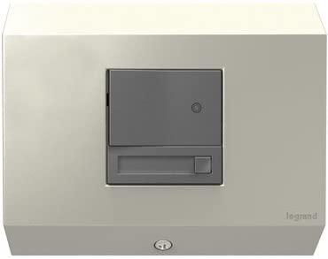 Legrand adorne Under-Cabinet Control Box with Paddle Dimmer in Titanium, APCB1TM4