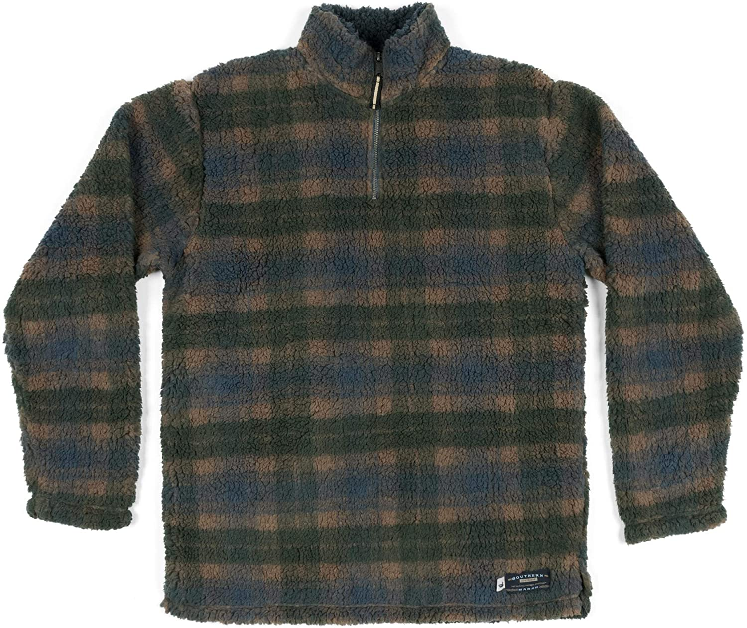 Southern Marsh Youth Andover Plaid Sherpa Pullover