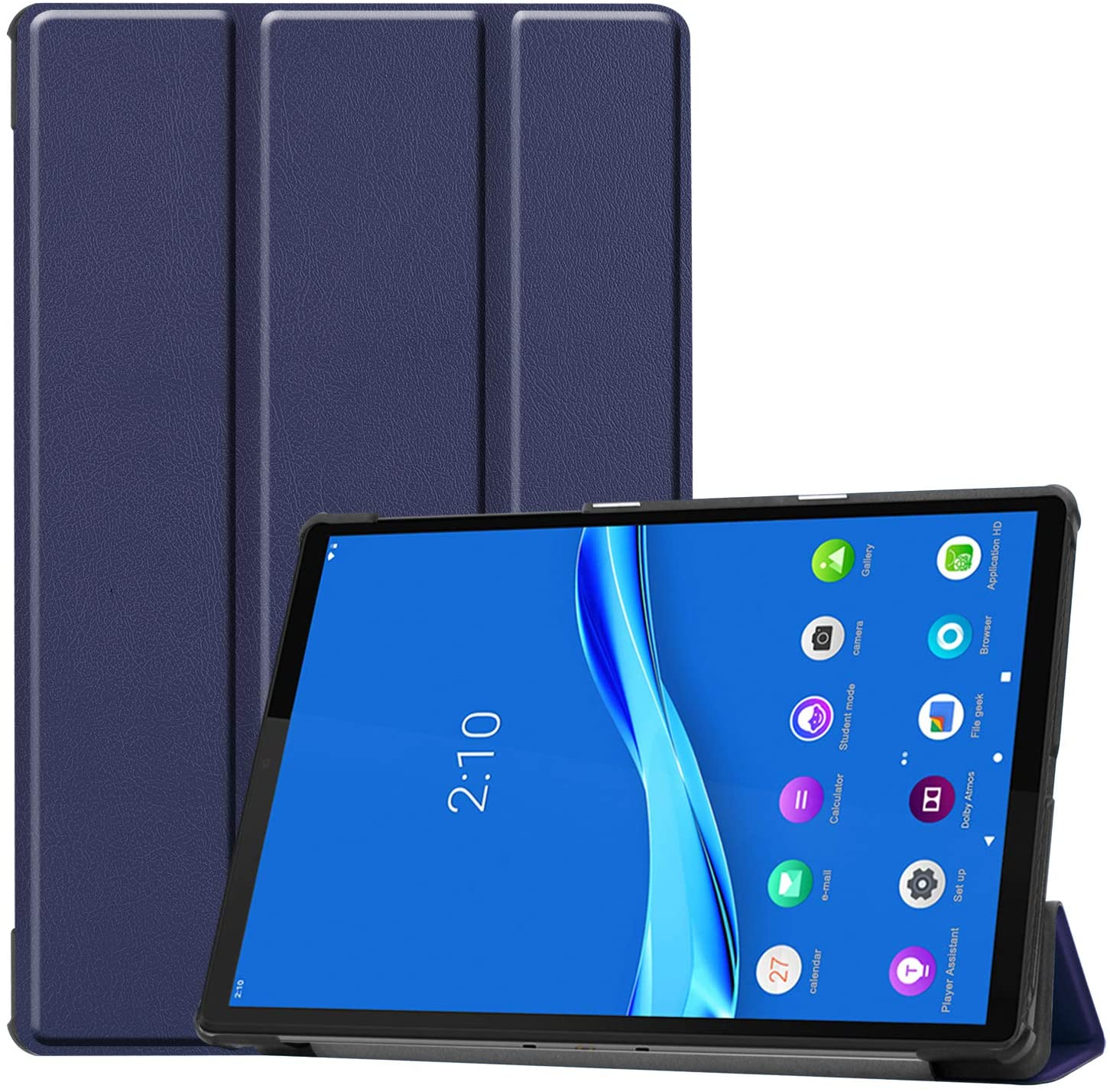 PULEN for Lenovo Tab M10 Plus Case 10.3 Inch,PU Leather Smart Case with Stand [Anti Slip][Shock-Absorption] Lightweight Protective Cover for Lenovo Smart Tab M10 Plus 2020 (Blue)