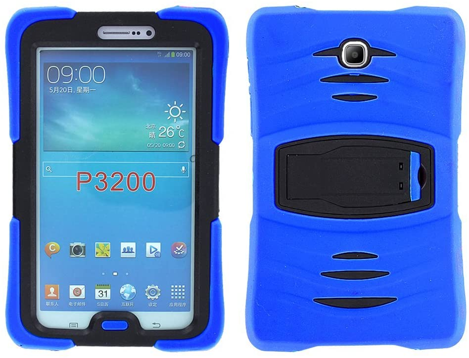 Galaxy Tab 3 7.0 (2013) Case KIQ, Full-Body Shockproof Heavy Duty Protective Cover with Kickstand Screen Protector for Samsung Galaxy Tab 3 7-inch P3200 T210 T217 (Armor Blue)