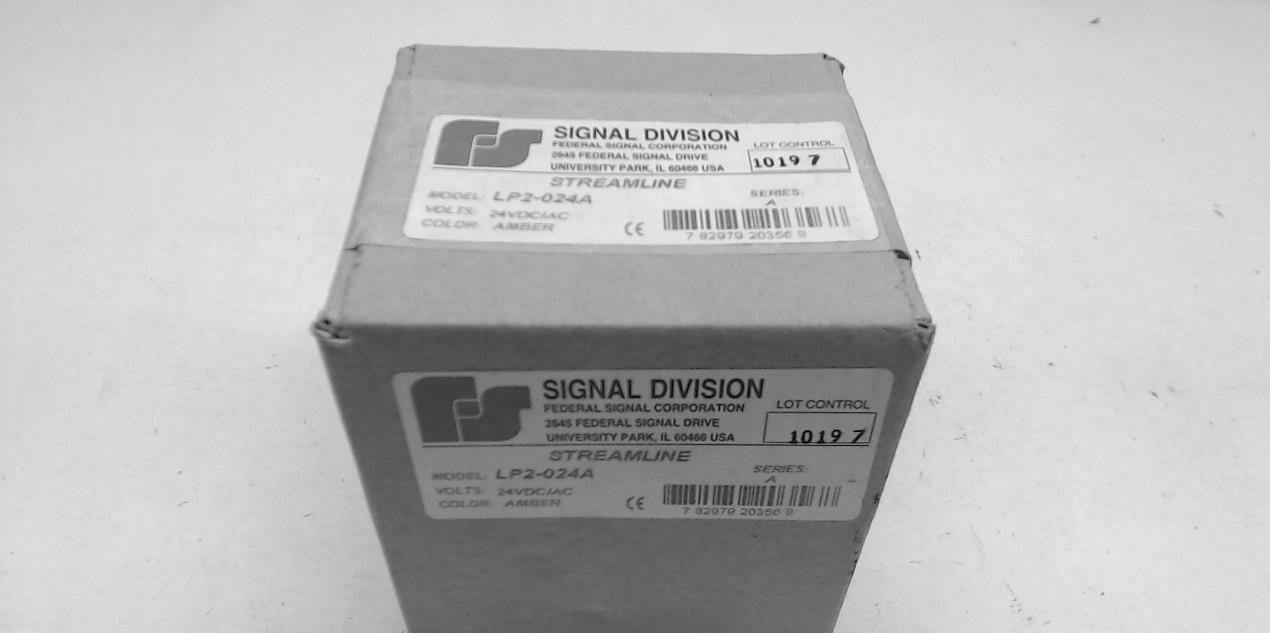 Federal Signal Lp2-024A Amber 24Vdc/Ac Stack Light Lp2-024A
