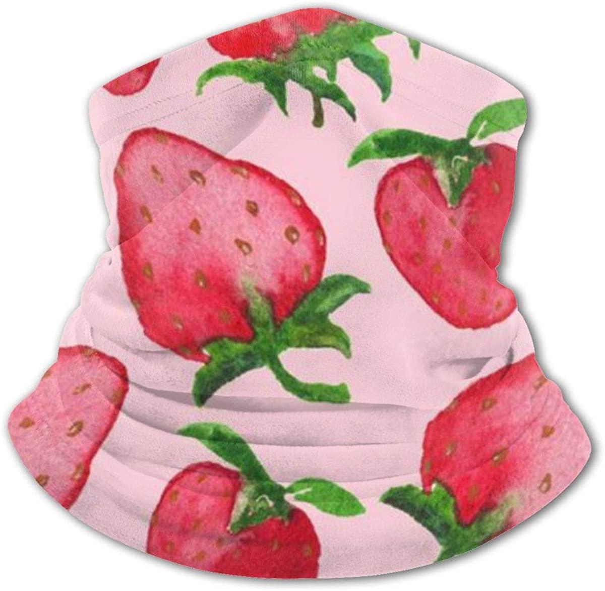 Strawberry Headwear For Girls And Boys, Head Wrap, Neck Gaiter, Headband, Tenn Fishing Mask, Magic Scarf, Tube Mask, Face Bandana Mask For Camping Running Cycling