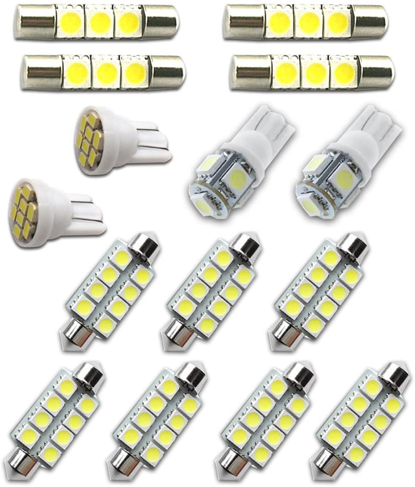 For Chevy Tahoe and Suburban Led Interior Lights Led Interior Car Lights Bulbs Kit 2007-2014 White 15Pcs