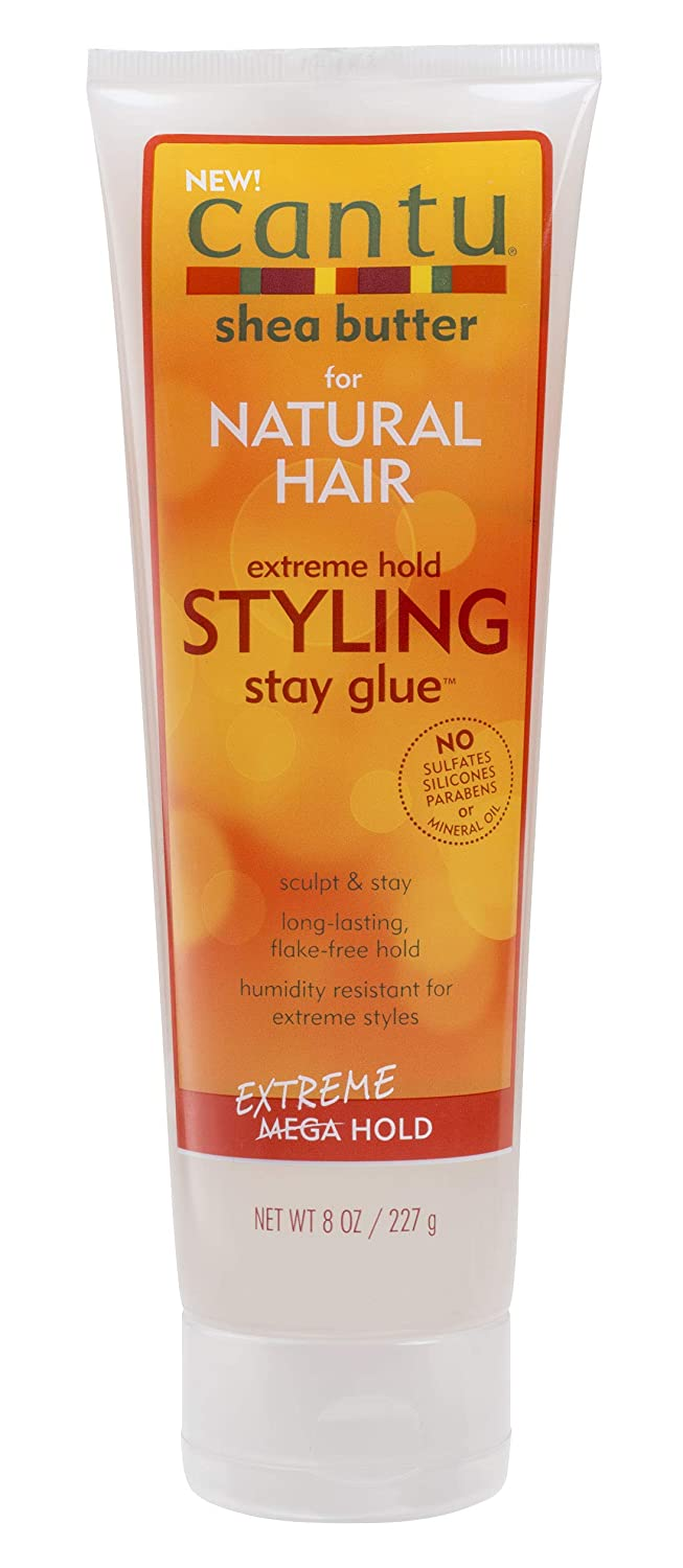 Cantu Natural Hair Styling Gel Stay Extreme Hold Tube, 8 Ounce