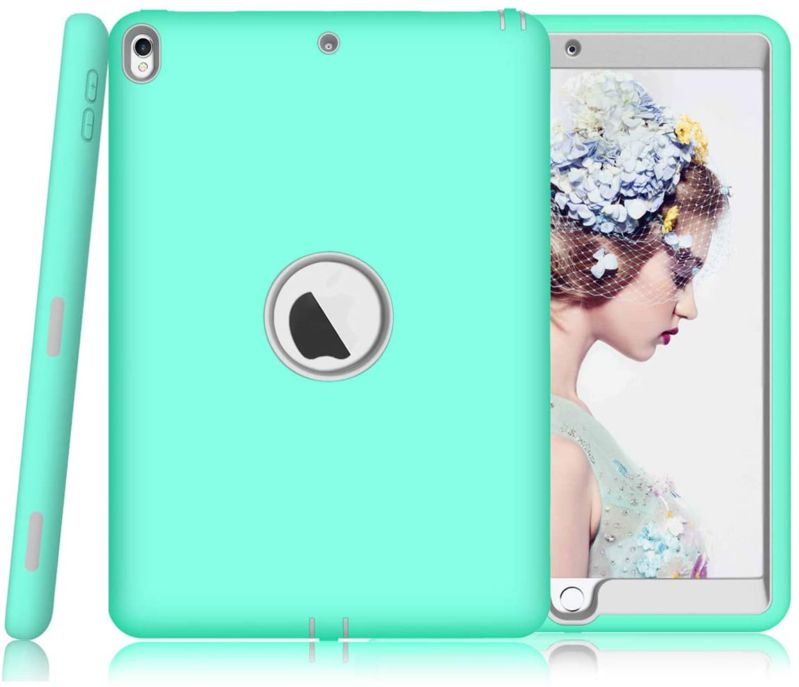 iPad Air 3 Case - Sevrok [ Minimalist-Series ] Shockproof Defender Hard PC+Silicone Hybrid Protective Armor for New 2019 Apple iPad Air 3rd Generation 10.5 inch, Teal