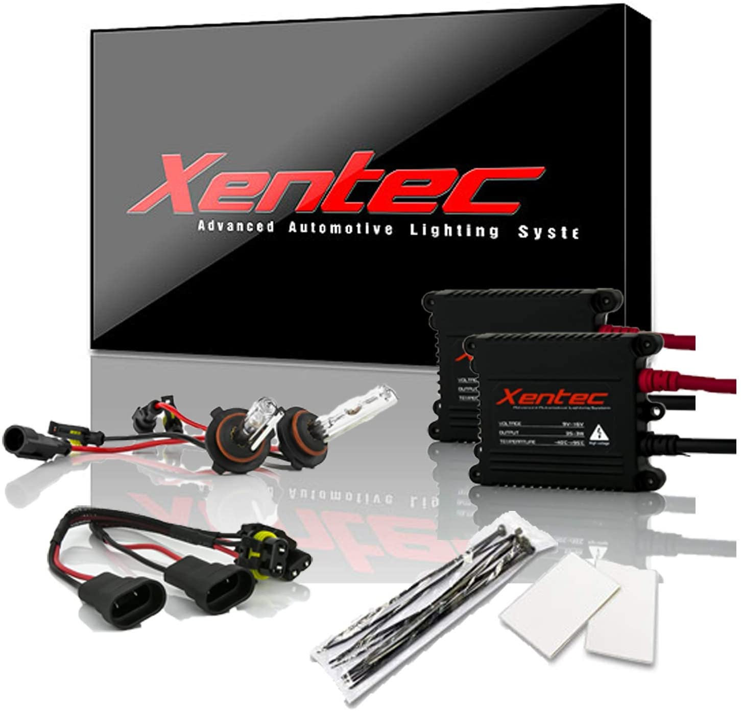 Xentec 9005 6000K HID Xenon Bulb bundle with 55W EPE Alloy Slim Ballast (Ultra White, also fit 9011,9055,9145,HB3,H12)