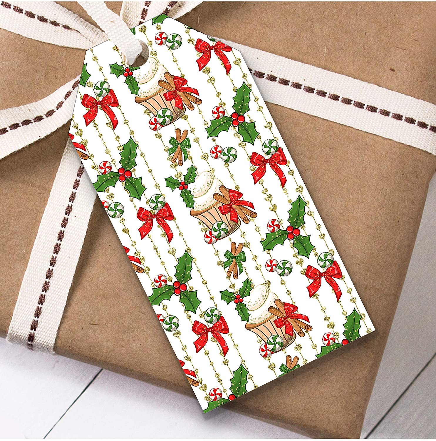 Treats Christmas Gift Tags (Present Favor Labels)