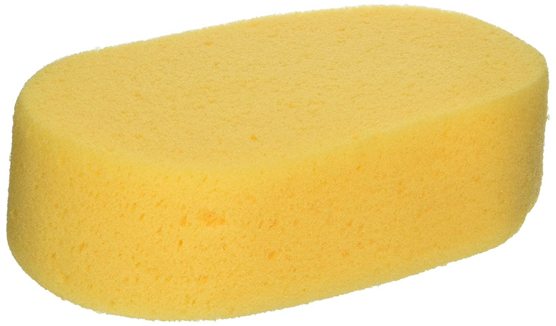 Sax Synthetic Polyurethane All-Purpose Oval Sponge, Yellow, 6