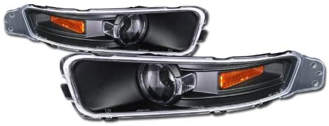 for 2005-2009 Ford Mustang V6 V8 Black Amber Front Signal Bumper Lights Corner Lamps JY