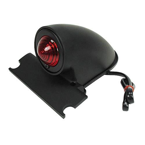 Sparto Vintage Brake Light in Satin Black - 12 Volt Dual Filament - Includes Mounting Hardware